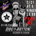 CPRA Presents: Doc Rotten To Headline CPRA Valentines Punk Show 2/21 At 3 Kings W/Poor Me & Skatepunk Hooligans – The Swifts (Update Tickets MOVING!!!)